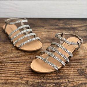 Just Fab Sari Gladiator Sandals Size 7 Taupe